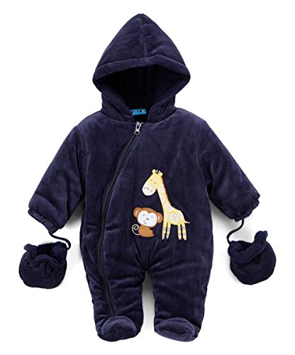 Sweet & Soft Velour Padded Snow Suit Bear & Giraffe (0/3 Months) -