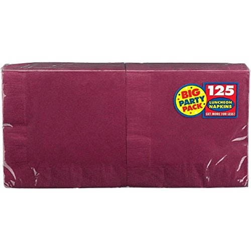 Wholesale Amscan 610013.27 Big Party Pack 125 Count Luncheon Napkins, Berry, Large for sale