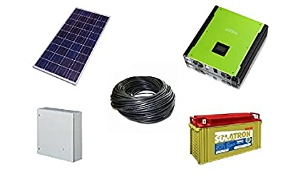 Solar Battery System >> Rooftop Urja 3 Kw Solar Battery System Amazon In Garden Outdoors