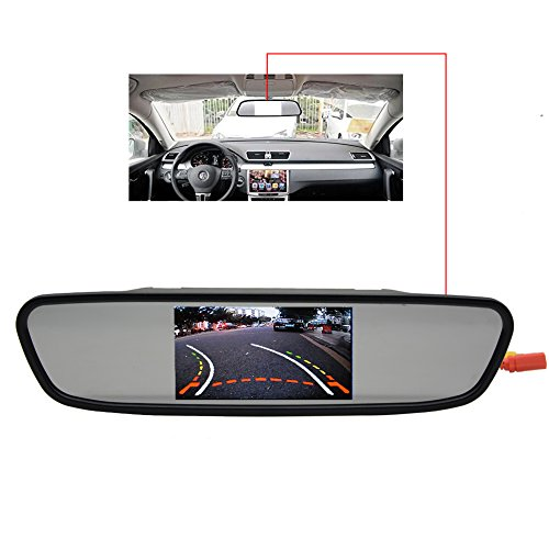 Safety Car Parking Assistance mirror Screen New Hot sale 4.3 Inch Rear View Camera HD Video CCD LED Night Vision Auto Reversing Rearview Mirror Monitor by EinCar