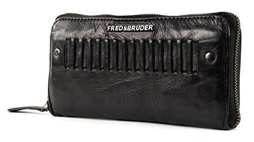 FREDsBRUDER Tam Tam Geldbörse Leder 20 cm Blackblue ELbUg