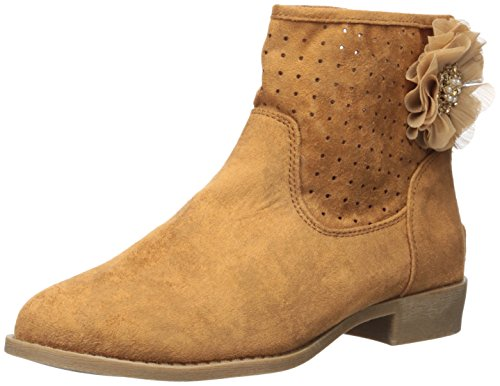 MIA Kids Women's Leah Ankle Bootie, Tan, 6.5 M US