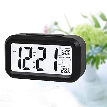 PXQOV Konesky Sensor de batería Nightlight Oficina Reloj de la ...
