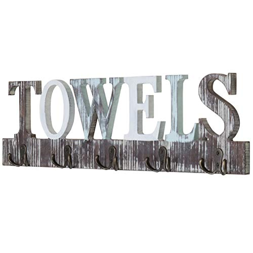 wood bath towel rack - 7