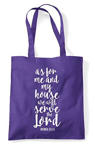 My Tote Me Statement Purple Shopper The Will As Bag Lord For Religious Serve And House We 47qntUwx