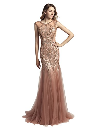 beaded dress long - 1