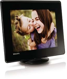"""Philips SPH8408/10 Álbum de fotos digital de 20,3 cm (8"""") con control táctil en el borde  (negro)"""