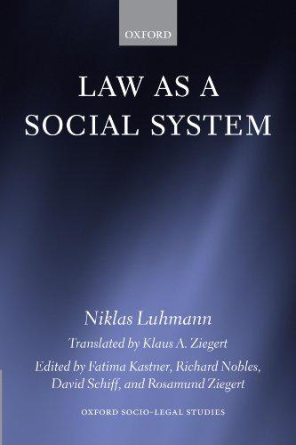 Law as a Social System (Oxford Socio-Legal Studies)