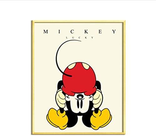 panggedeshoop Cartoon Anime Mickey Minnie Personnage De Dessin Anim/é Famille D/écoration Affiche De Haute Qualit/é Toile Peinture Haute Qualit/é D/écoration De La Maison sans Cadre 40X50 Cm
