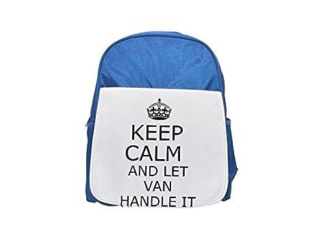 Mango se van Keep Calm printed Kid s azul mochila, para mochilas, cute