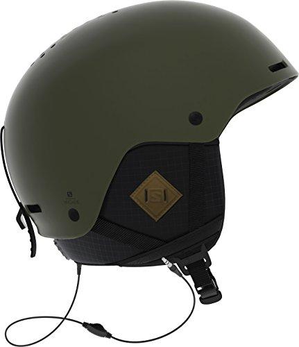 Salomon Brigade Audio Helmet, Large/59-62cm, Olive Night