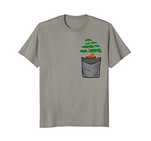 (Mens Bonsai Tree Gardening Gift Japanese Zen Garden Bonsai Shirt XL Slate)