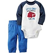 Carter's Baby Boys' Bodysuit Pant Sets 121g825, Blue, 6 Months