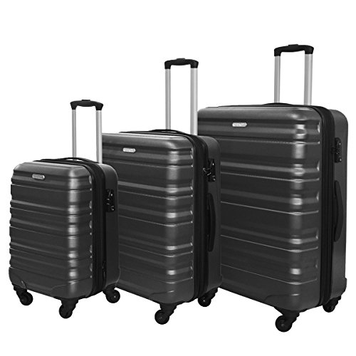 3 PC Luggage Set Durable Lightweight Hard Case Spinner Suitecase LUG3 SS559A...