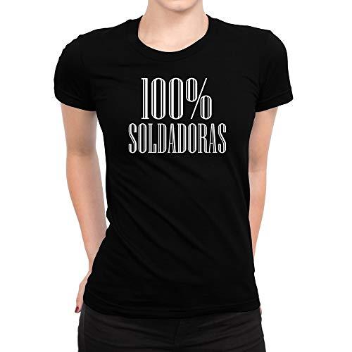 idakoos-100-por-ciento-soldadoras-women-t-shirt