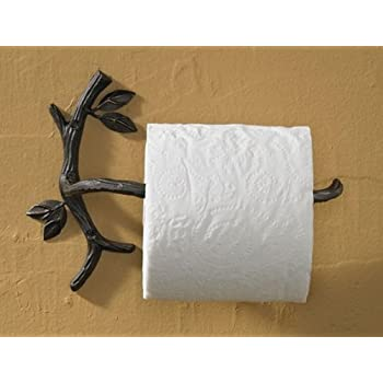 impressive inspiration white toilet paper holder. Park Designs Nature Walk Bathroom Toilet Paper Holder Amazon com  Branch With Leaves Cast Iron
