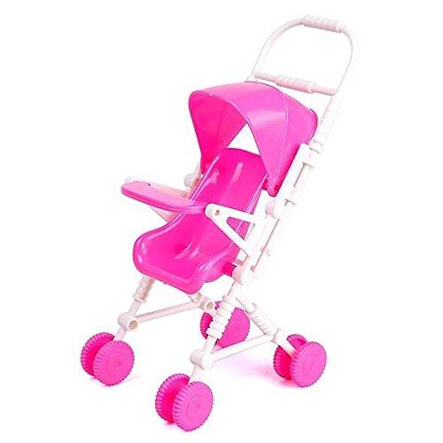 SODIAL DIY il passeggino Bebe Buggy Rose Trolley da bambola giocattolo 158165