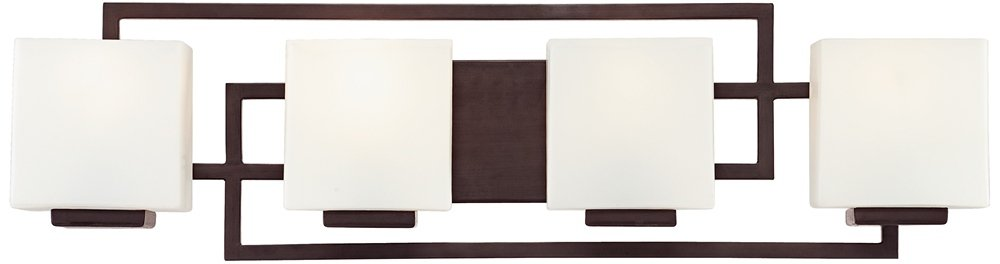 Lighting on the Square Bronze 29'' Wide Bath Wall Light