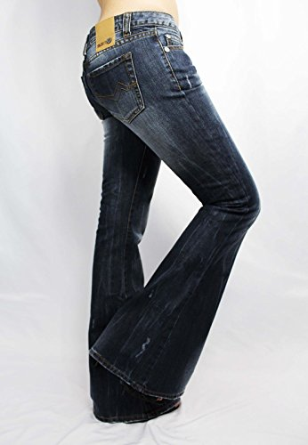 - Jeans Women's Jeans Slim Boot Jeans in Medium Wash Faded Distressed Low Rise Boot Cut Jeans for Women US28 Run Small