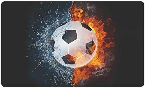 Balón de fútbol en Fuego y Agua Entrada Interior al Aire Libre ...