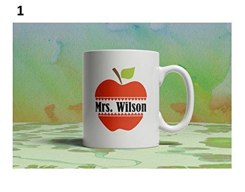 Mrs. Wilson Mug, Coffee Mug Custom, Coffee Lover, Tea Gift, Drinkware Cup, Apple Mug, Teachers Gift Personalized Mug, 11oz 15oz