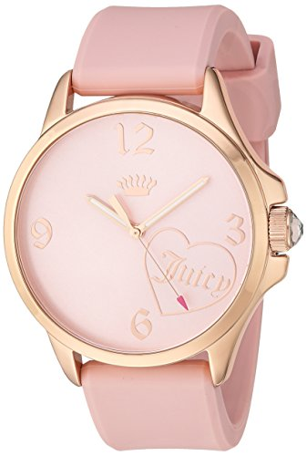 Juicy Couture Women's Pink Silicone Strap Watch - 7