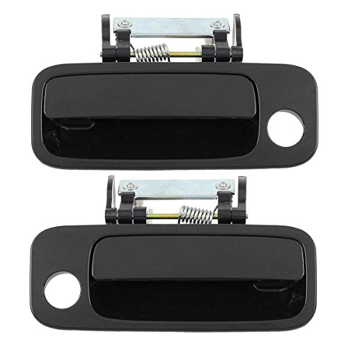 - AUTEX 1pc Front Left (Driver Side) + 1pc Front Right (Passenger Side) Black Outer Exterior Door Handle Compatible with 2000 2001 2002 2003 2004 Toyota Avalon