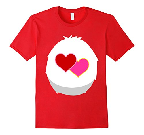 Mens Two Heart Cute Bears T-shirt Friend Family Matching 3XL (Cute Halloween Costumes For Two Friends)