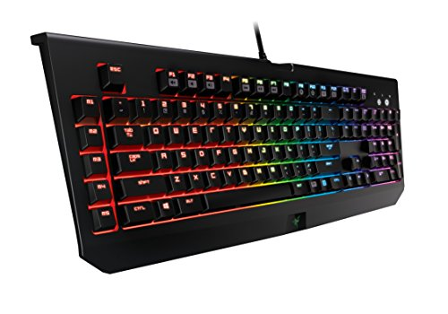 Razer BlackWidow Chroma, Clicky RGB Mechanical Gaming Keyboard, 5 Macro Keys - Razer Green Switches