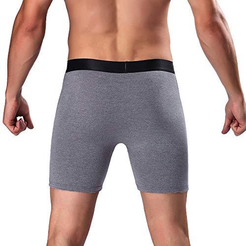 Hommes String Lot Courir Boxer Briefs Leg men Ihengh Sous Slip De Gris Sport Homme Gentleman vêtements Long Mode Pour Vêtements T5RzawRx