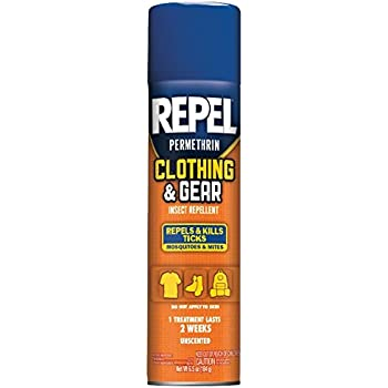 Repel Permethrin Clothing & Gear Insect Repellent Aerosol, 6.5-Ounce, HG-94127
