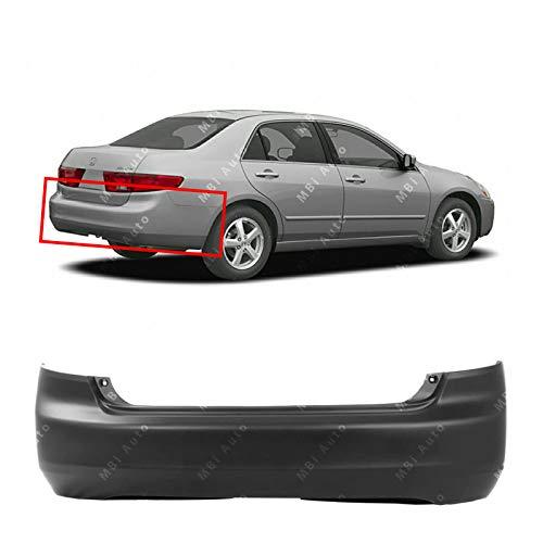 MBI AUTO - Primered, Rear Bumper Cover for 2003 2004 2005 Honda Accord Sedan 4-Door 03 04 05, HO1100208 ()
