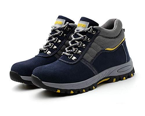 Jabasic Men Safety Boots Steel Toe Industrial Construction Work Shoes -