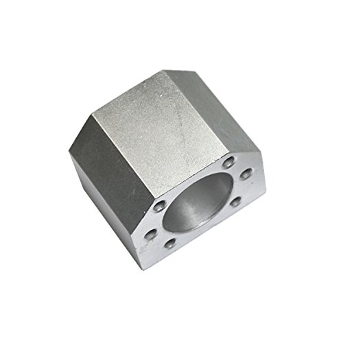 1Pcs aluminium alloy ballscrew nut housing bracket holder fit for SFU1605 SFU1610 ball screw 1605 16mm ball nut housing bracket holder CNC Parts