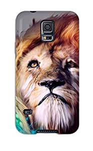 Fashionable Style Case Cover Skin For Galaxy S5- Multicolor Lion