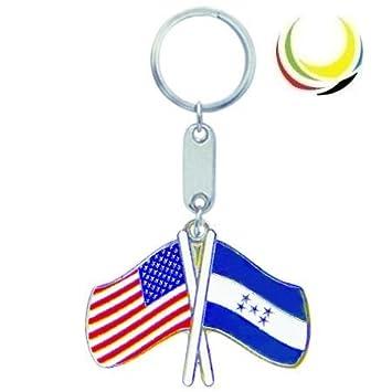 Keychain USA-HONDURAS FLAGS