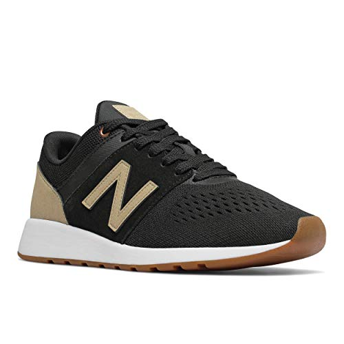 (New Balance Women's 24v1 Lifestyle Shoe Sneaker, Black/Incense, 8 W)