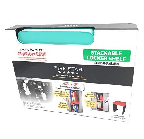 "Five Star Stackable Locker Organization Shelf 12"" Wide (Aqua)"