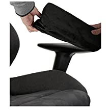Ziraki Memory Foam Cover for Chair Armrests Pillow - Office Desk Armrest Cushion Pad - Set Of 2 Pieces