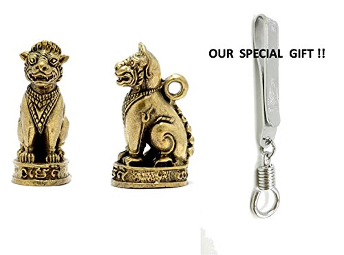 Costume Jade Mara (Singha Huntng for Money Amulet Pendant for Good Luck Business Success with Special Gift Silver)
