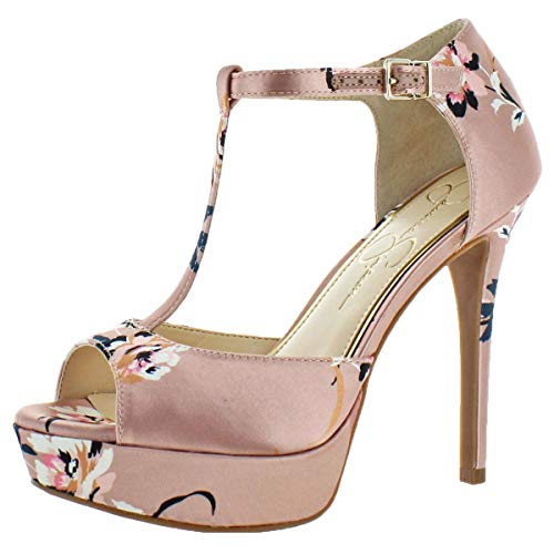- Jessica Simpson Women's Bansi Light Pink/Floral Satin 7.5 M US