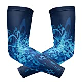 Best Hanes Compression Shirts For Men - Perfectly Customized Arm Sleeves Blue Music Notes Man Review