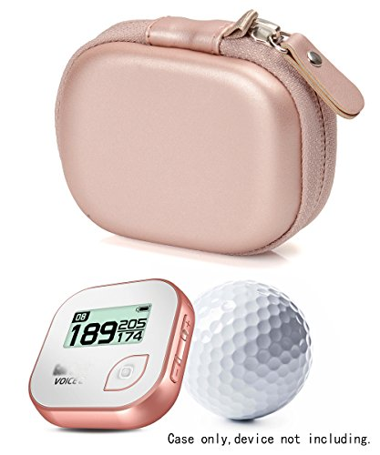 Gold Gps (Hard protective case for Golf GPS by CaseSack, Specially Designed for GolfBudy Voice, Voice 2, Bushnell NeoGhost, Mesh pouches on both lid and base for GPS and cable separatedly (Rose Gold))