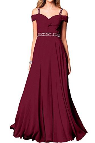 Weinrot Damen Chiffon Abendkleider Partykleider A Ivydressing Lang Linie Elegant Festkleid Ballkleid Ewqq7v