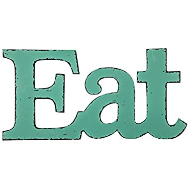 Generic  Eat  Turquoise Wooden Farmhouse Kitchen Wall Plaque,Red