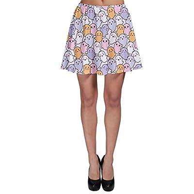CowCow Womens Colorful Kawaii Cartoon Pattern Cute Ghosts Skater Skirt