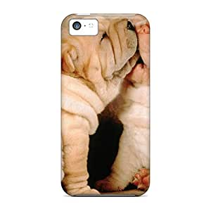 New Customized Design Shar Pei Puppies For Iphone 5c Cases Comfortable For Lovers And Friends For Christmas Gifts