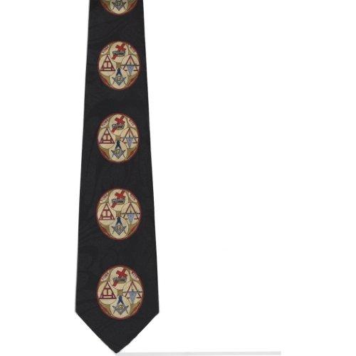 CTC Gifts Men's York Rite Mason Neck Tie Black