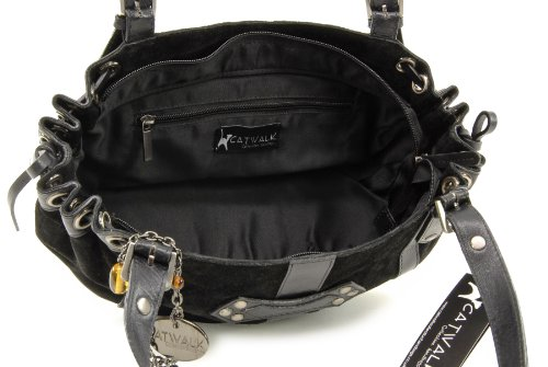 Suede and Caprice Collection Leather Black Catwalk Bag 7qvwgWqF