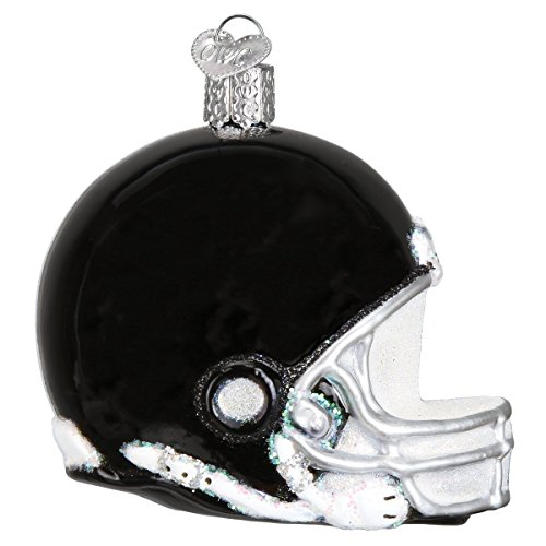Old World Christmas Glass Blown Ornament with S-Hook and Gift Box, More Sports Collection (Football Helmet) ()